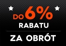 Do 6% rabatu za obrót!