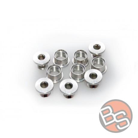 Śruby do zębatek KCNC srebrne 10/8mm