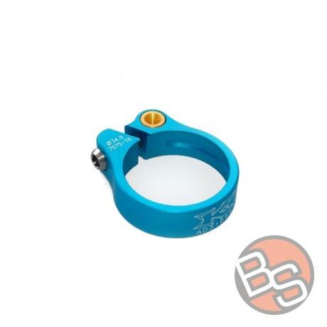 Zacisk sztycy KCNC Road Lite TI 15gram 31,8mm kolor niebieski