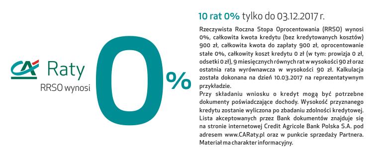 raty credit 3x0%